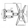 Наклонно-поворотный кронштейн Tuarex OLIMP-404