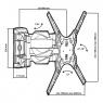 Наклонно-поворотный кронштейн Tuarex OLIMP-405